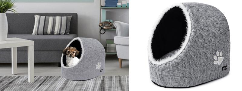 casa de iglu para perros, cama cueva para perros grandes, camas cueva para perros medianos, como hacer una cama cueva para perros